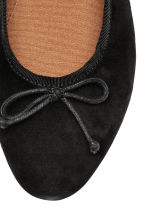 Suede ballet pumps - Black - Ladies | H&M 3